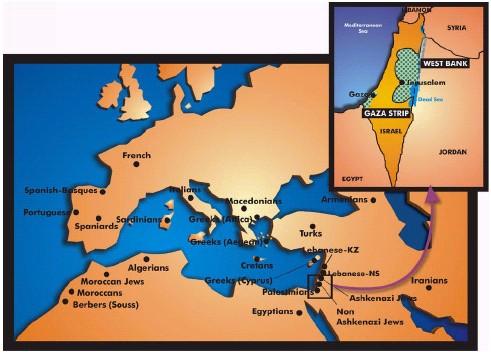 GenesinPalestinians - Palestine location